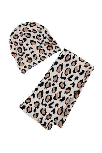 baby set (sjaal en muts) met dierenprint