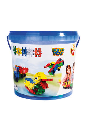 Build & Play bucket 8-in-1 160 stuks
