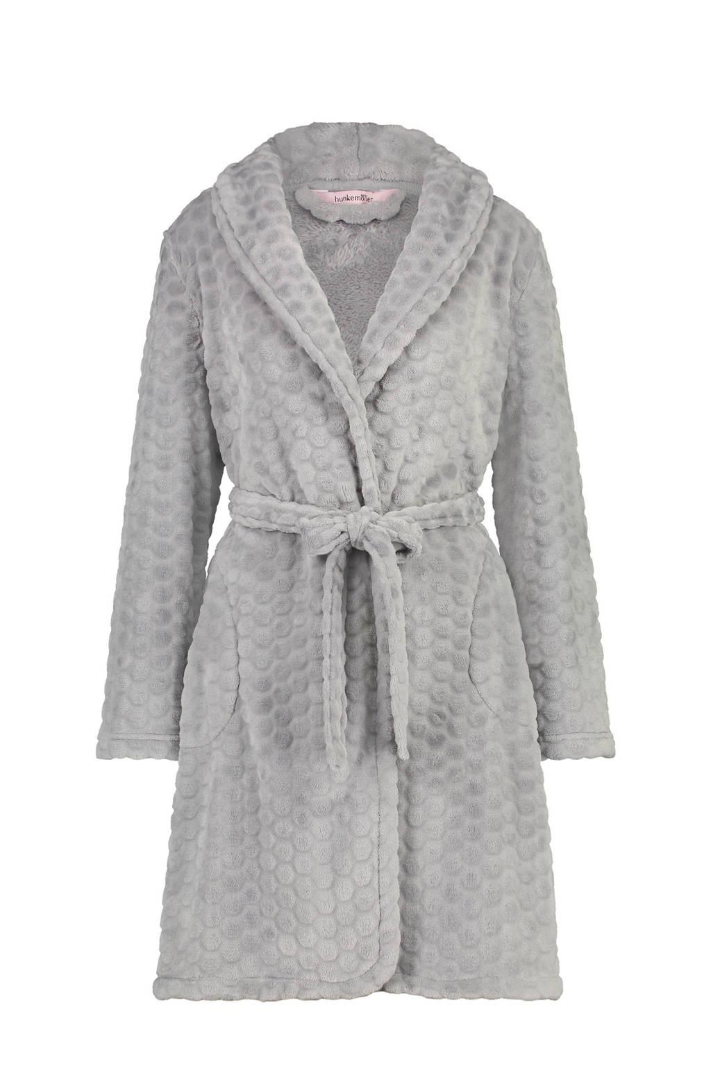 7dfb3795598 fleece badjas grijs