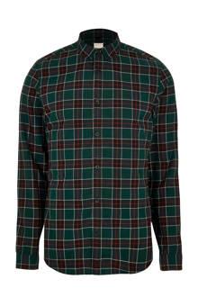 Big & Tall geruit overhemd
