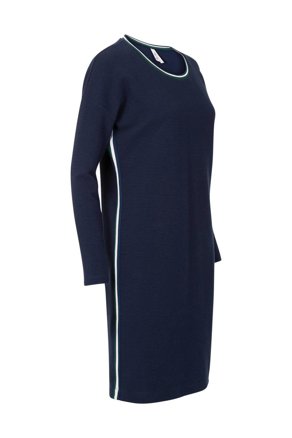 Miss Etam Regulier jurk met bies blauw, Donkerblauw