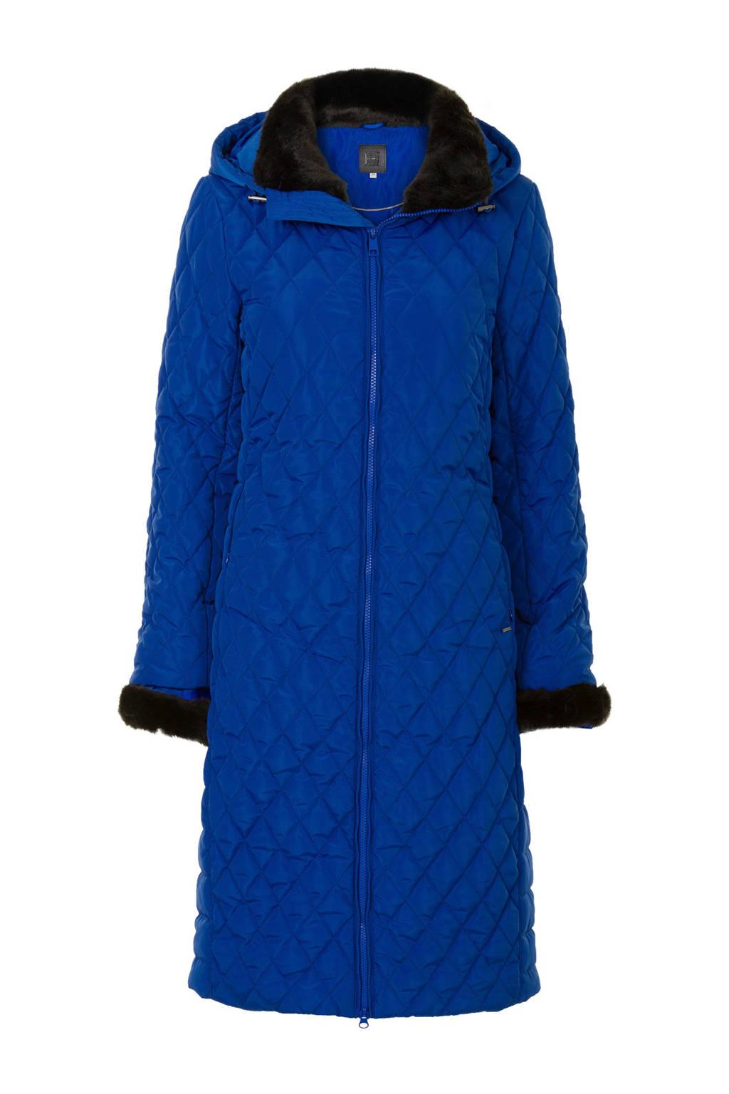 Lange Blauwe Winterjas.Promiss Lange Winterjas Blauw Waste2wear Wehkamp