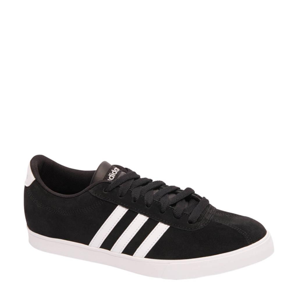 adidas  Courtset suède sneakers zwart, Zwart