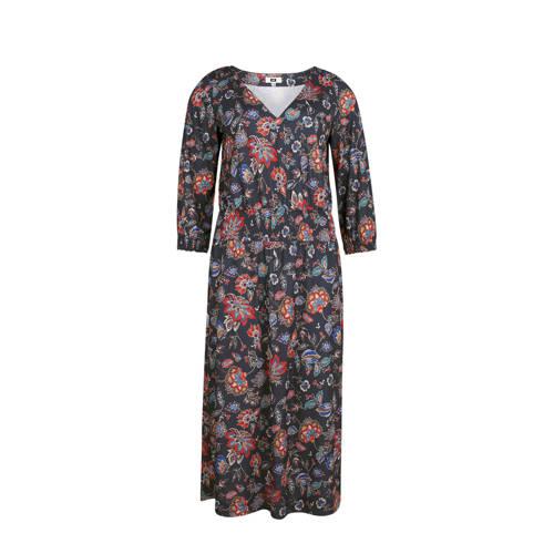 WE Fashion gebloemde jurk donkerblauw kopen