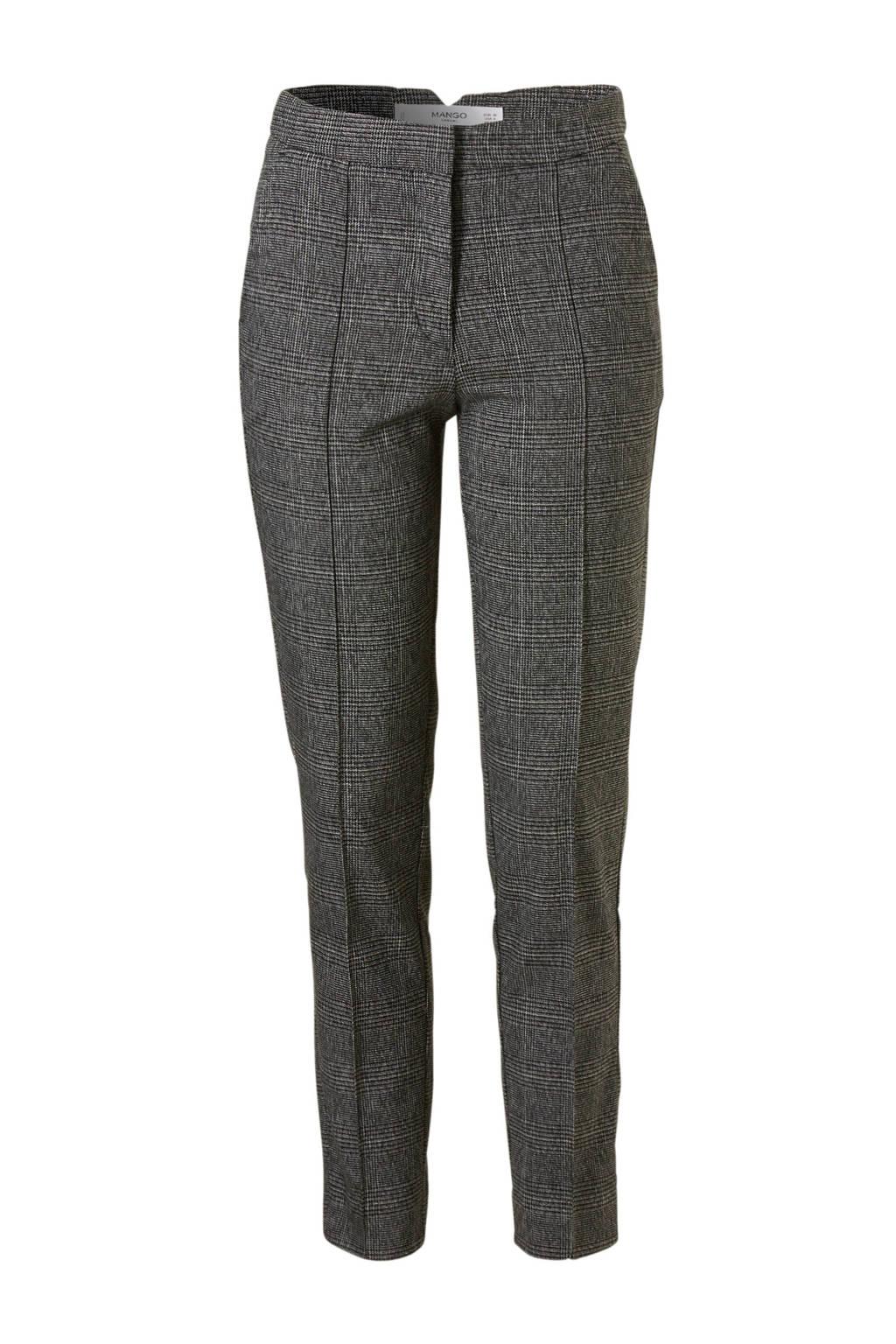 énorme réduction 3a65f 564a7 geruite skinny fit pantalon grijs