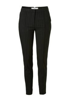 pantalon met krijtstreep zwart