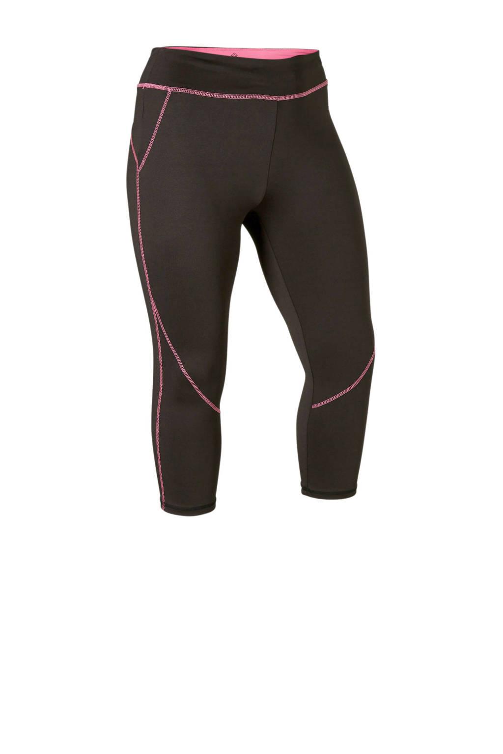 Zhenzi Sport capri sportbroek zwart, Zwart/roze