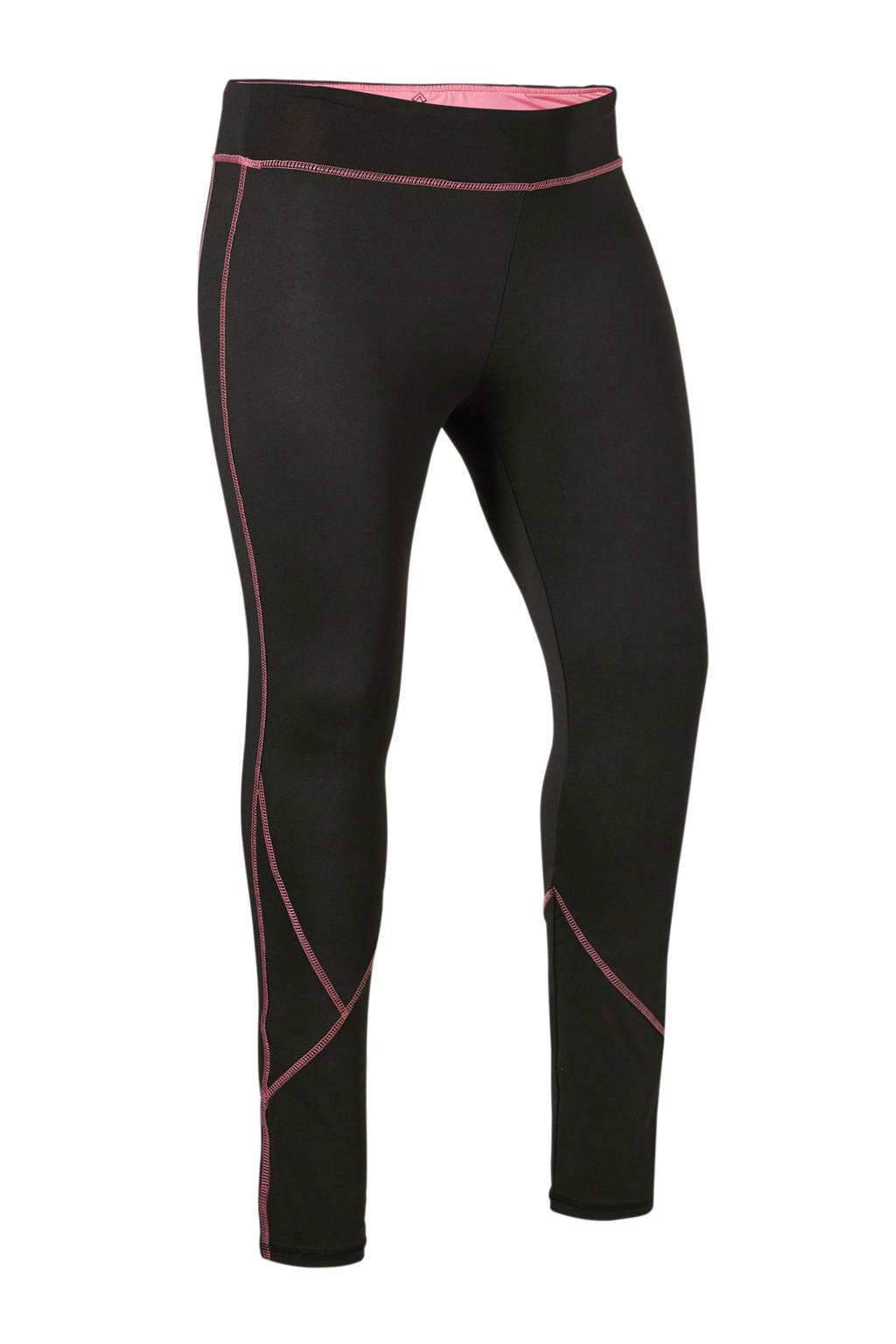 Zhenzi Sport sportbroek zwart/roze, Zwart/roze