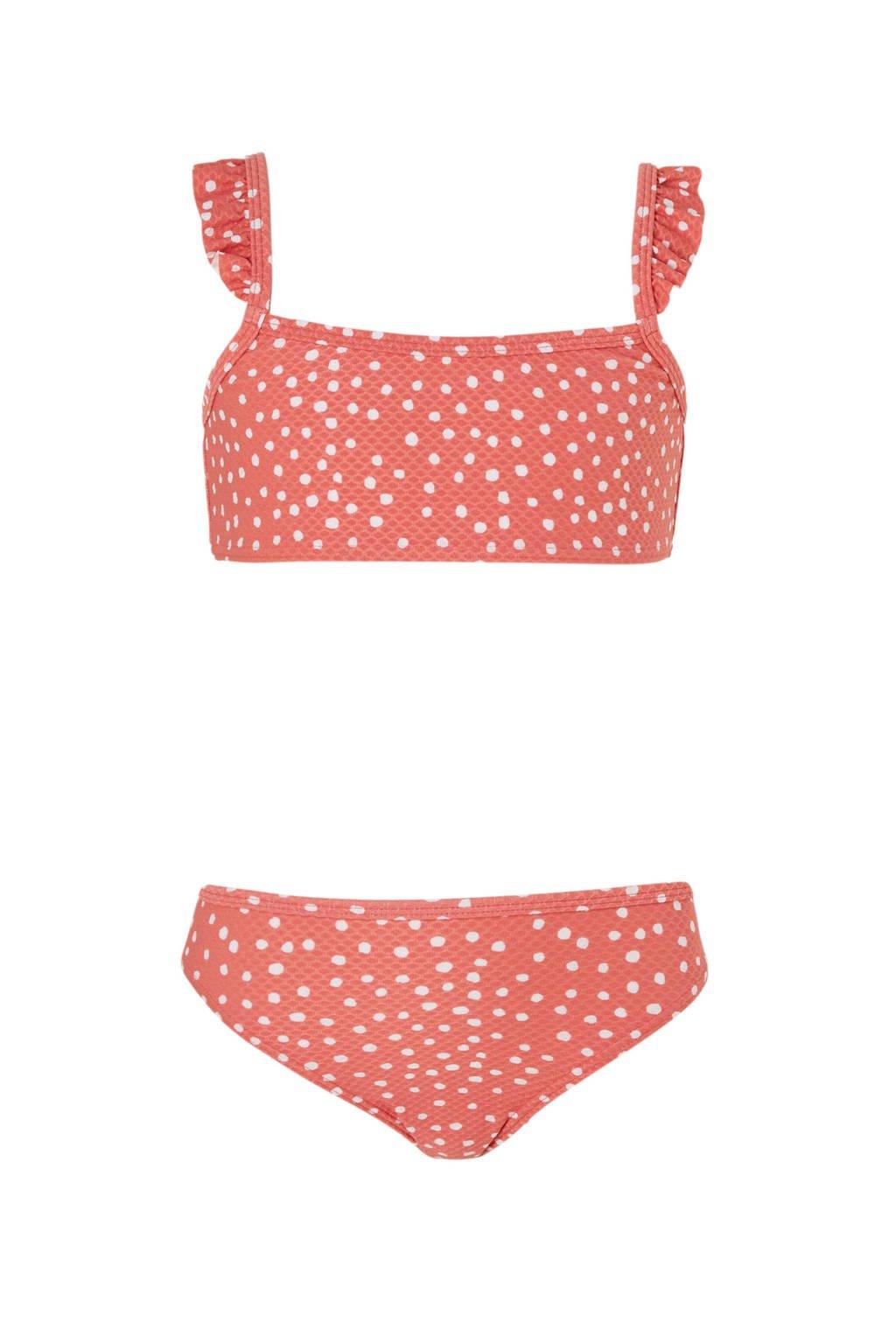 Beachlife bikini in stippen print roze, Roze