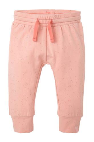 baby broek met stippenprint roze
