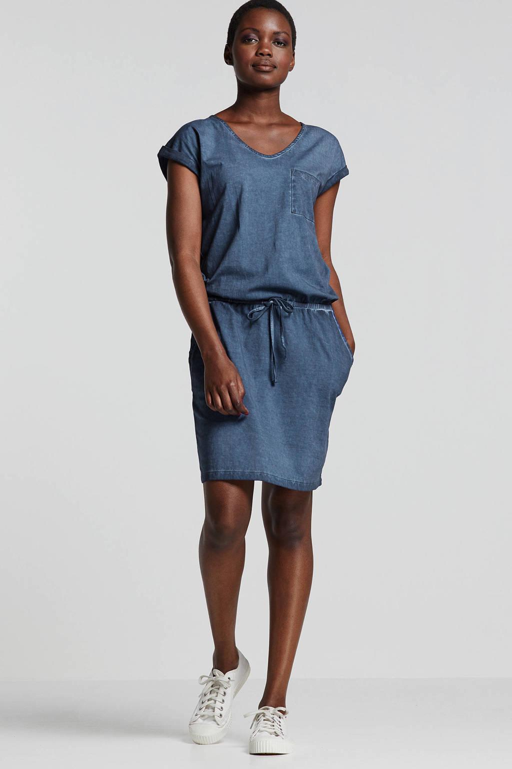 whkmp's beachwave jersey jurk indigo blauw, Indigo blauw