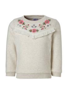 Palomino gemêleerde sweater met borduursel ecru