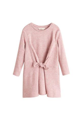 jurk met decoratieve strik roze