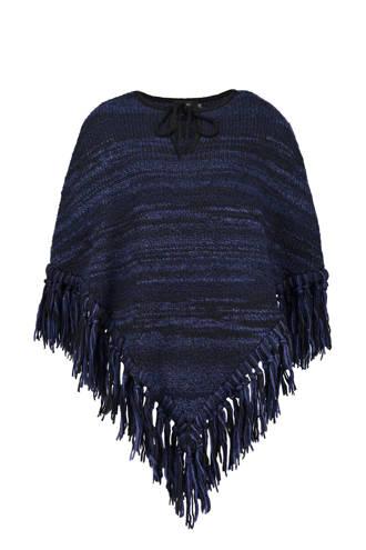 gebreide poncho met wol paars