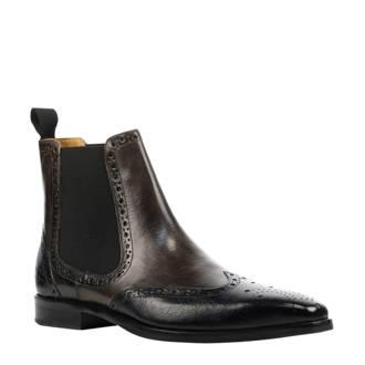 chelsea boots met brogues bruin