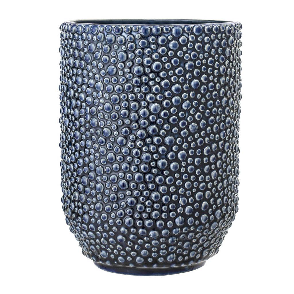 Bloomingville vaas (Ø14,5 cm), Blauw