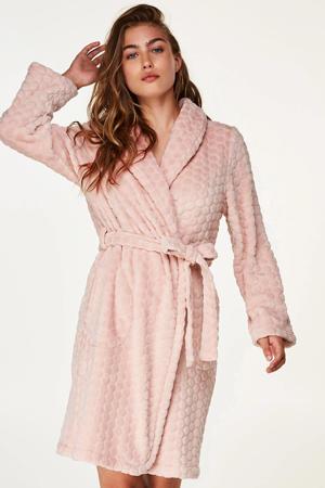 Elegant fleece badjas roze