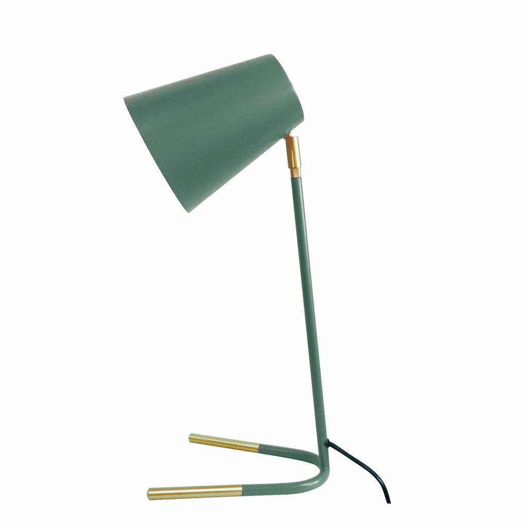 Leitmotiv tafellamp Noble, Groen/goud