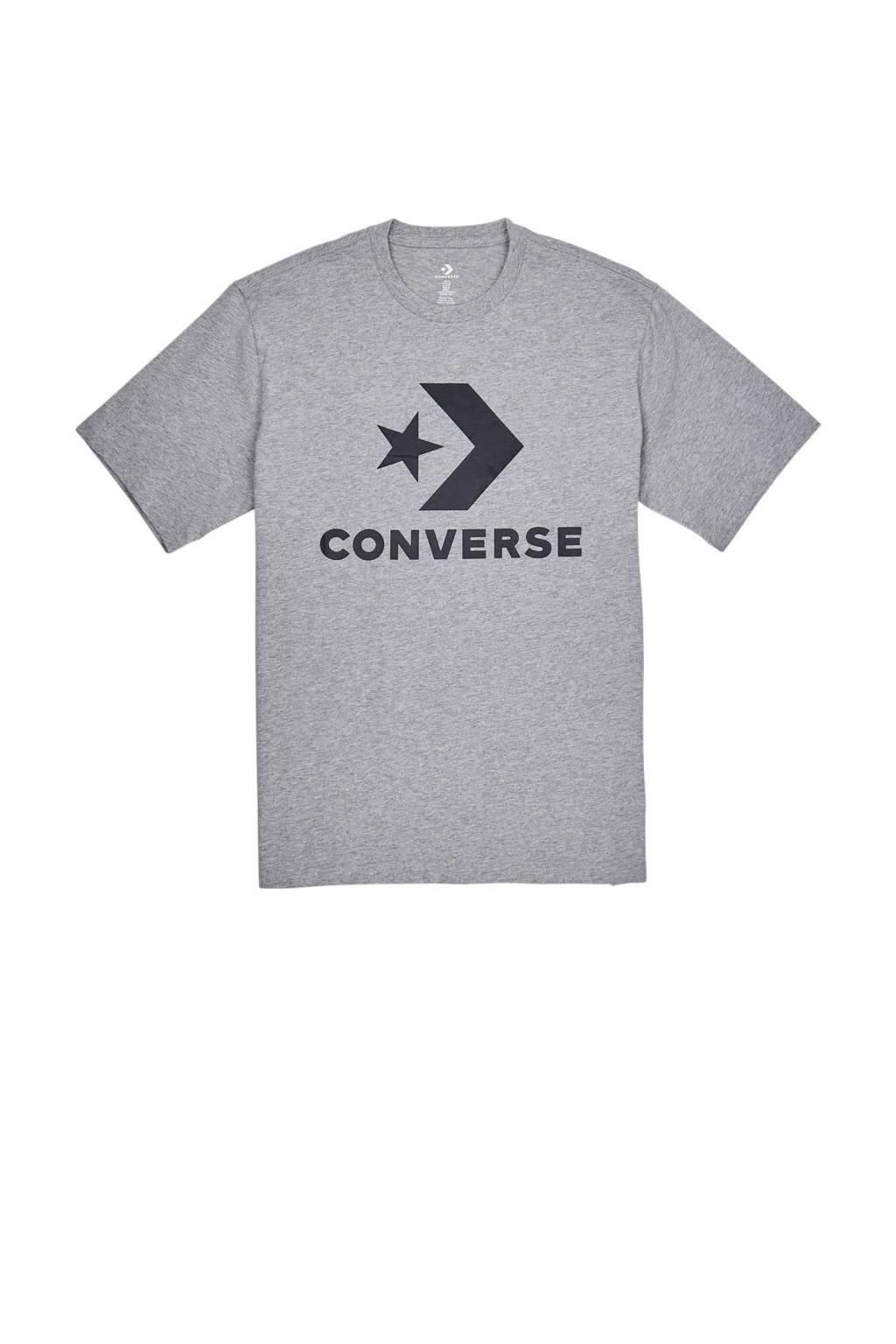 Converse   T-shirt grijs, Grijs