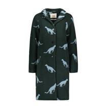 product afbeelding Sissy-Boy wollen coat met panterprint groen (dames)