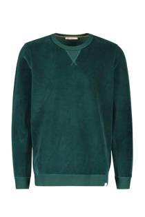 Sissy-Boy  fluwelen sweater donkergroen (heren)