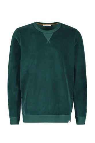 fluwelen sweater donkergroen