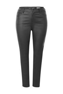 Miss Etam Plus gecoate 5-pocket broek zwart