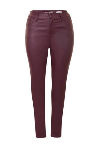 Plus gecoate 5-pocket broek paars
