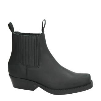 nubuck leren chelsea boots zwart