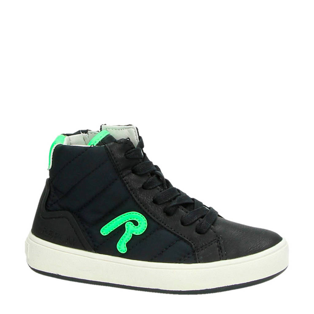 REPLAY  textielen sneakers zwart, Zwart