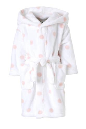 Palomino   badjas met stippen wit