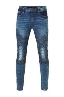 Clockhouse vintage biker jeans heren donkerblauw