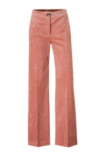 Mango high waisted corduroy palazzo broek roze (dames)