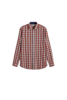 slim fit overhemd rood