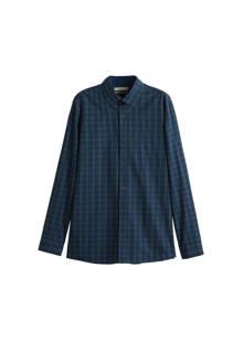 slim fit overhemd met ruitprint marine