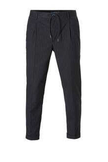regular fit pantalon met krijtstreep marine
