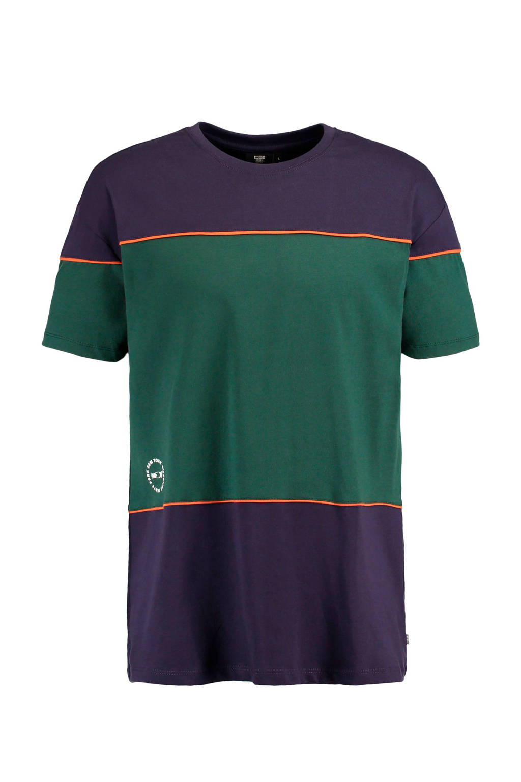 America Today T-shirt paars/groen, Paaqrs/groen