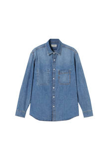 denim overhemd blauw