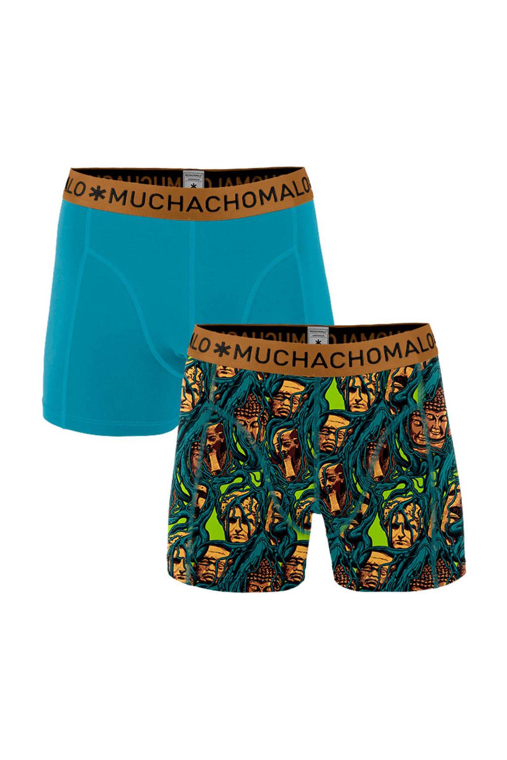 Muchachomalo boxershort (set van 2), Blauw/patrol