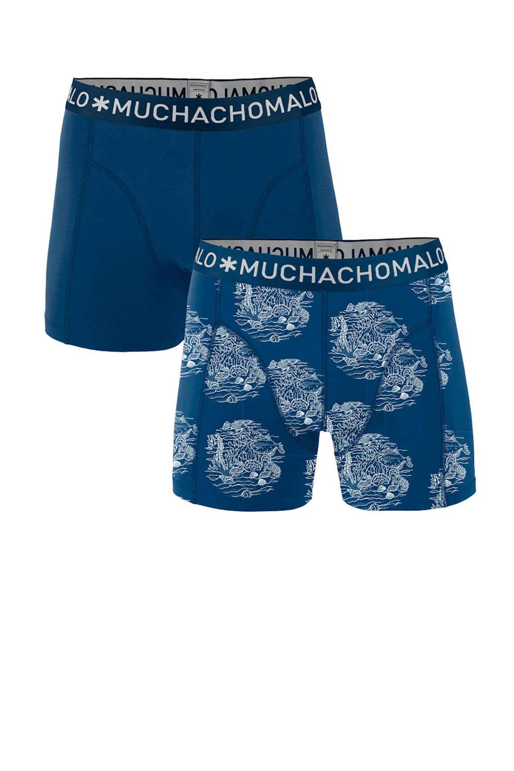 Muchachomalo boxershort (set van 2), Donkerblauw/blauw