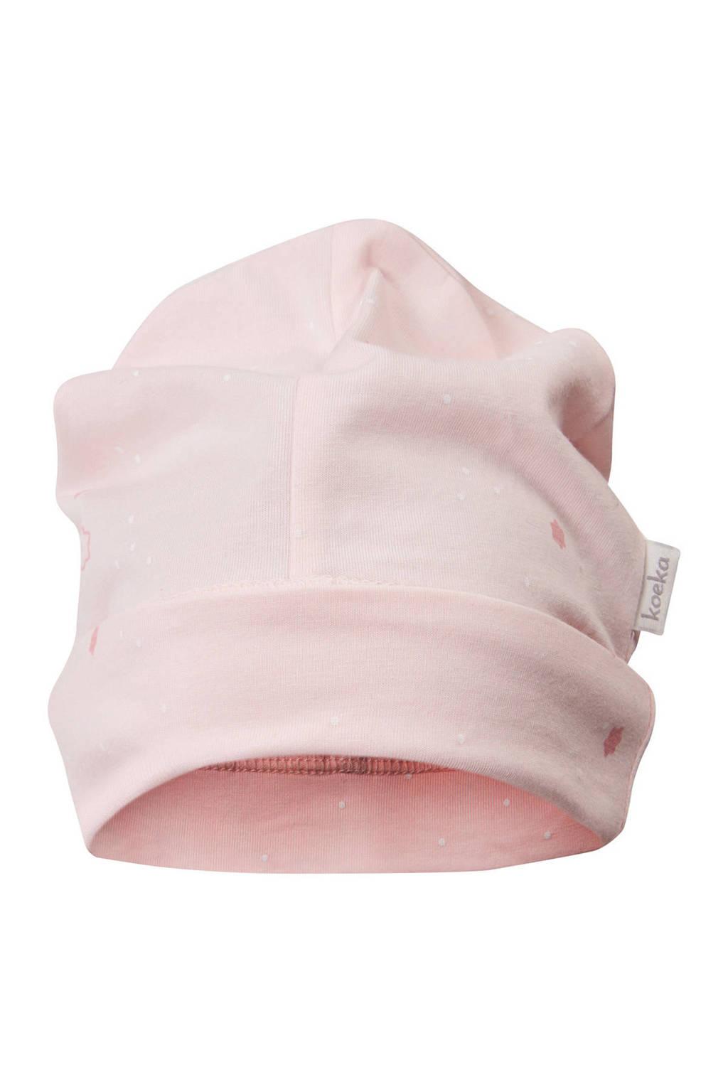 Koeka baby muts maat 62/68 roze, Roze