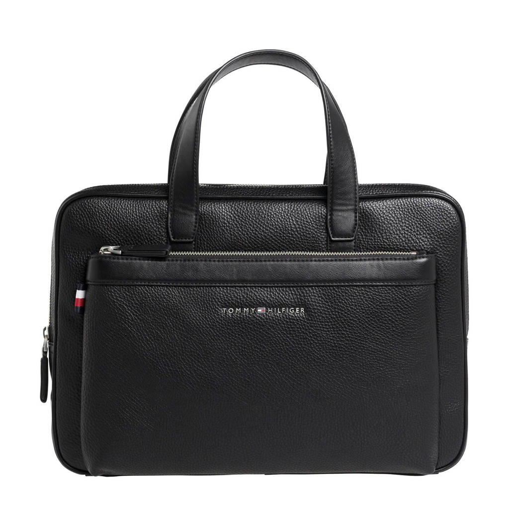 Tommy Hilfiger  15,4 inch laptoptas DOWNTOWN SLIM COMPUTER BAG, Zwart