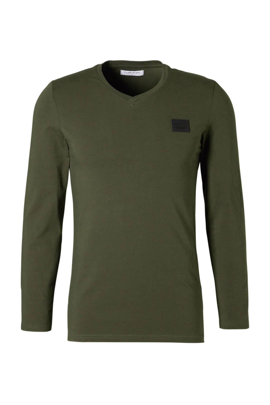 Purewhite Essential V neck, Groen