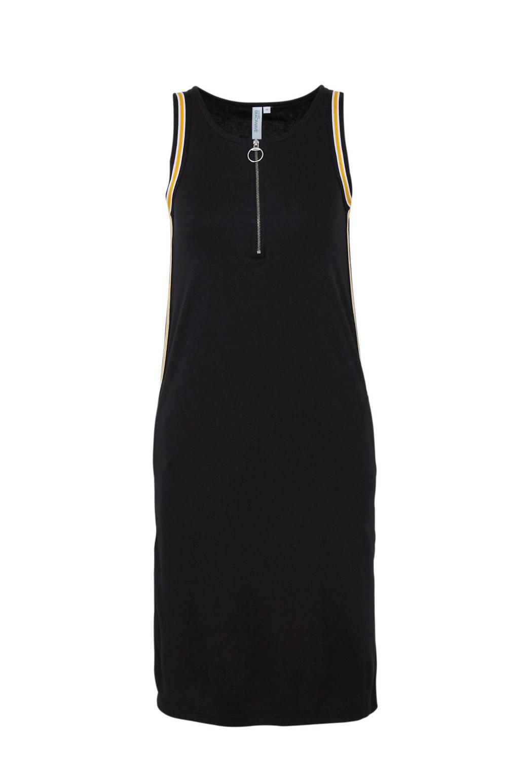 whkmp's beachwave jurk met zijnaadbies, Zwart