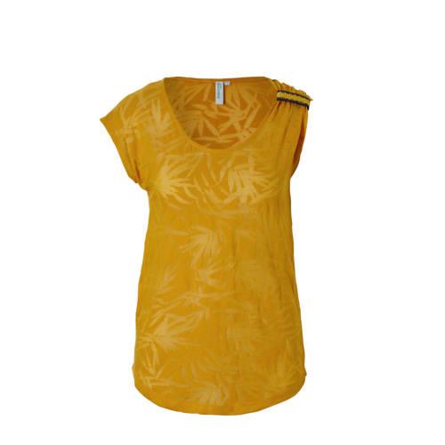 whkmp's beachwave semi-transparant T-shirt met con