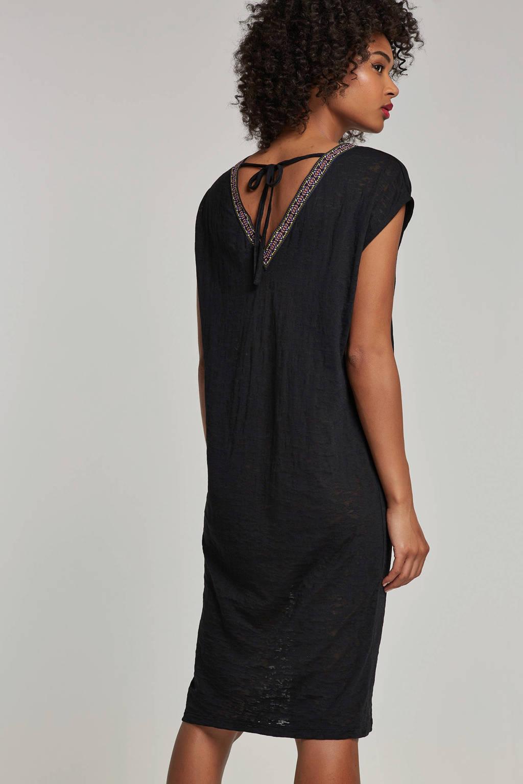 whkmp's beachwave jurk van aussbrenner jersey, Zwart