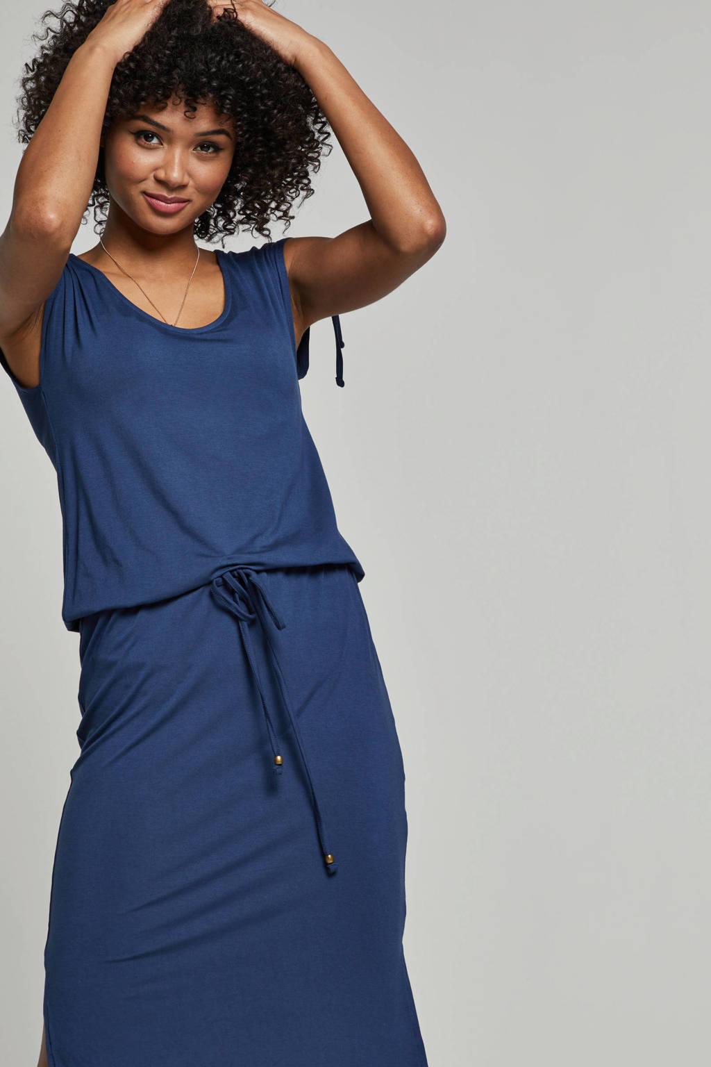 whkmp's beachwave viscose jurk met streepprint, Blauw