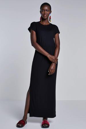 jersey maxi jurk zwart