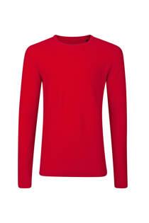 WE Fashion slim fit trui rood (heren)