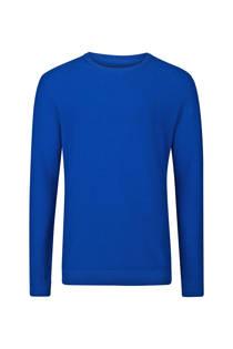 WE Fashion slim fit trui donkerblauw (heren)